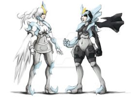 Original Gijinka: Black and White Kyurem by JacquelineChroma