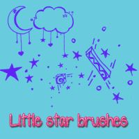 Little star brushes by kittymoon23