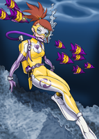 coloring - Rika Scuba by shoxxe by Rosvo