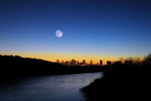 Edmonton by Moonlight by maximark