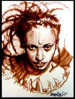 Brown Marker African Girl by malachisimonyan