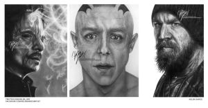 Sons of Anarchy Triptych by Helenhsd