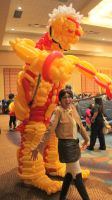 Armored Titan Balloon and Jessica Calvello by NoOrdinaryBalloonMan