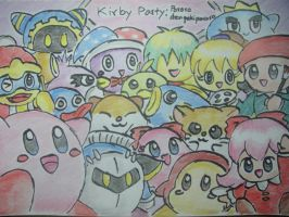 Kirby Party by dengekipororo