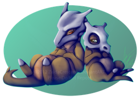 Pokemon - Cubone and Marowak by ZaidaCrescent