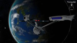 USS Lexington NCC-1709 by TrekkieGal