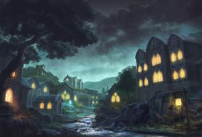 silent town by MCfrog