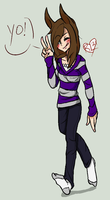THE BEST TIME TO WEAR A STRIPED SWEATER by RabbitLuver21