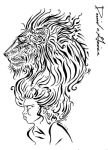 DG lion girl by davidgrice