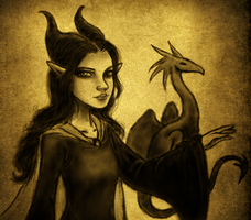Young Maleficent by susandevy