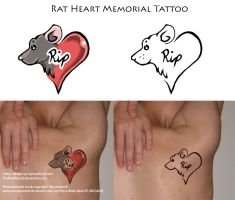 Rat Memorial Tattoo by The-Monstrum