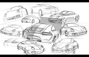 Porsche 911 Sketches by Seko91