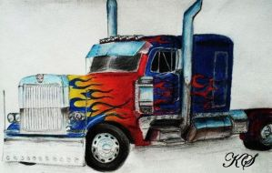 Optimus Prime Truck by KristenitaPrime7