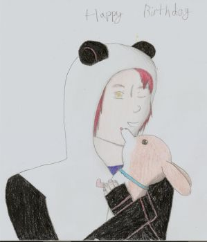 Gerard Way Hugging Beagel by Wish-Ful-Thinking