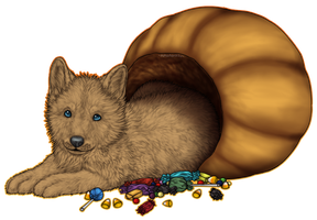 FOR SALE Halloween Pup by OkamiAmaterasuWH