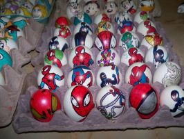 Easter Eggs   Spiderman by Rene-L