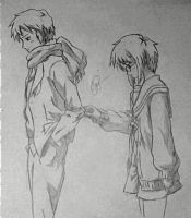 Kyon and Nagato... by GreenMind-Dead
