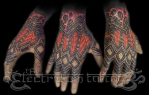 Biomech hand tattoo 2011 by Ash-Harrison