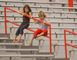 Girls in the bleachers by eyenoticed