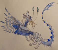 Mistral the snow dragon by CloudSymphony