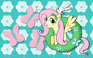 Christmas Past Fluttershy WP by AliceHumanSacrifice0