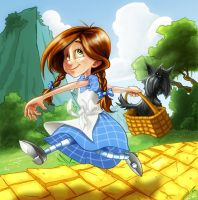 Dorothy and Toto Color by lukas2die4