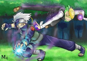 Ninja Battle: Cilan VS Kakashi 2 by Marini4