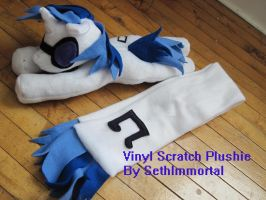 Viny Scratch Plushie and Scarf by SethImmortal