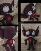 1:1 Sableye plush by aSourLemon