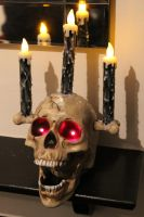 Talking Halloween Haunted Skull Prop by Joker-laugh