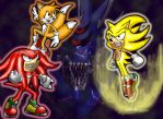 Sonic Heroes ... and Mecha by NetRaptor