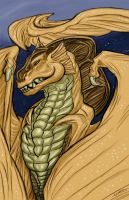 Frill Head Dragon by krazykelli