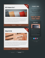 Paneling, a free PSD template by nodethirtythree