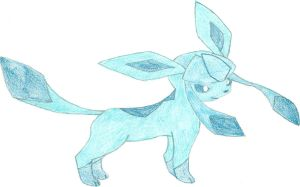 Glaceon, seventh eeveelution by hellogoodbye1121