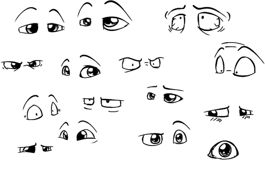 My eye doodles by Enricthepenguin92