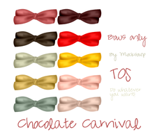 Chocolate Carnival Bows by Mocksoup
