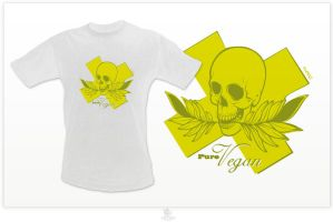 PURE VEGAN - t-shirt by fat3oy