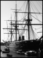 England Ship BW by UpInDust