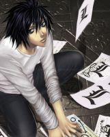 Death Note -  L A M B D A by Nekozumi