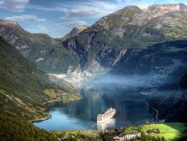 Our ship at Geiranger by MisterKrababbel