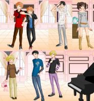 Ouran Host Club Dress Up by azurechick