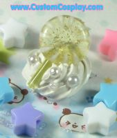 Yellow lolllipop ring by The-Cute-Storm