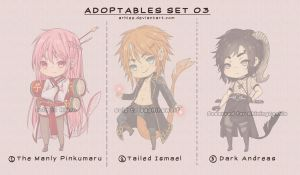 Adoptables Set 03 - CLOSED by arhiee