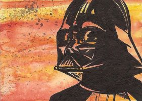 Darth Vader Sketch Card by Tyrant-1