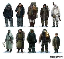 Concept Art Set NPCs by DarkEnter