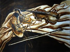 Violin and boot composition 3 by VanCityArtist