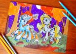 Snowspell and Cobalt Tangle by Letquestria