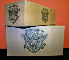 Owl Post Boxes by MistressBlackwater