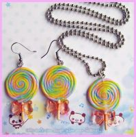 Glitter Lollipop Set by cherryboop