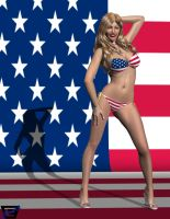 A Patriotic Canary on The 4th of July by ImfamousE